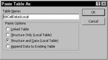 Copy and Paste Linked Table as Local Table - Access 2003 VBA