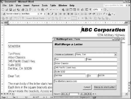 Sending Data to Microsoft Word - Access VBA Programming