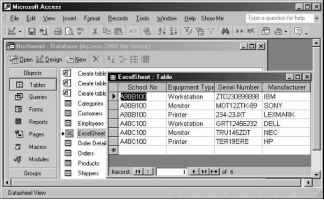 Linking an excel spreadsheet to a microsoft access database excel figure 15 20 a microsoft excel spreadsheet can be linked to a microsoft access database ibookread ePUb
