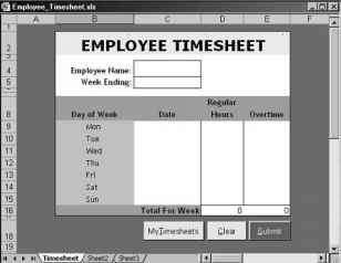 step creating a timesheet spreadsheet excel 2002 vba xml asp