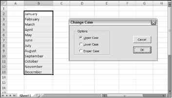 How Uppercase Excel 2007