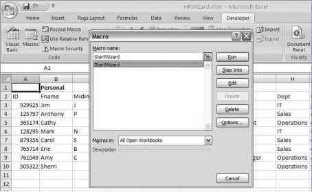MyCompany HR Wizard - Excel 2007 VBA - Engram 9 VBA Scripts