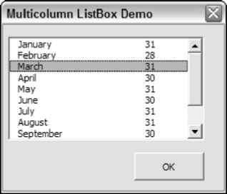 Working with multicolumn List Box controls - Excel 2007 VBA