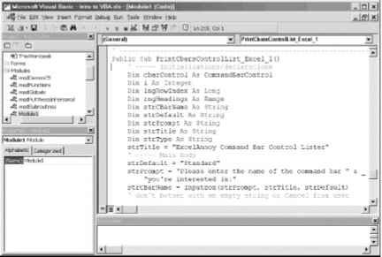 Chapter The Visual Basic Editor Part I - Excel VBA Macros