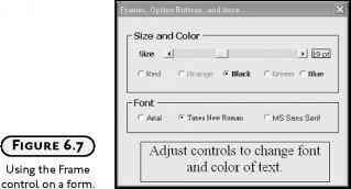 The Frame Control - Excel VBA Programming - Engram 9 VBA Scripts