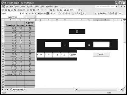 Basic Math Game From Vba Excel