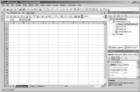 Solution Explorer Excel
