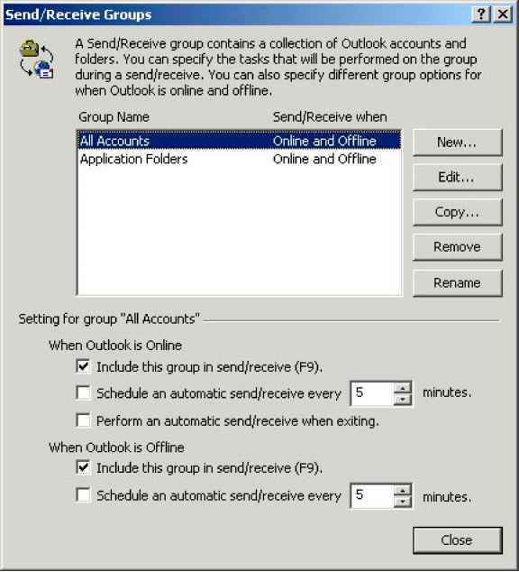 Outlook 2002 Offline